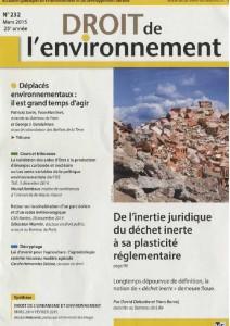 droit de l'environnement n° 232 mars 2015