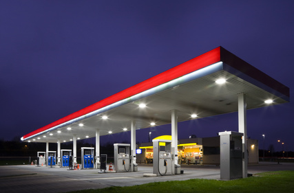 Gas station at night