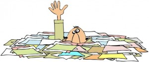 Drowning In Paperwork