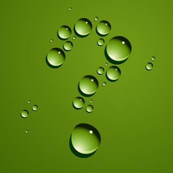 Vector dew drops question mark