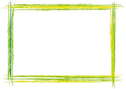 grn handgemachter Rahmen quer Pinselstrich