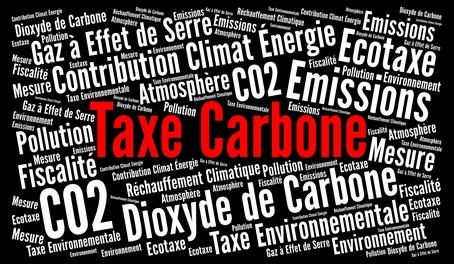 Taxe carbone nuage mots