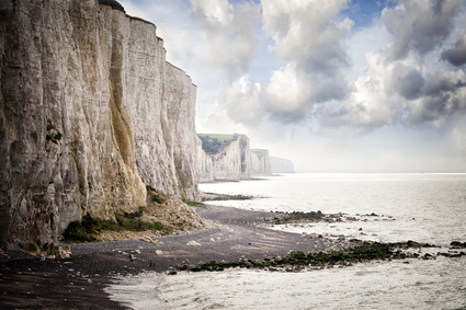 Cliffs of Ault city in Picardy, France