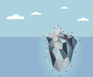 ice berg polygon background vector illustration